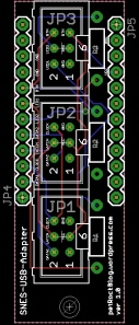PCB schematic of SNES adapter